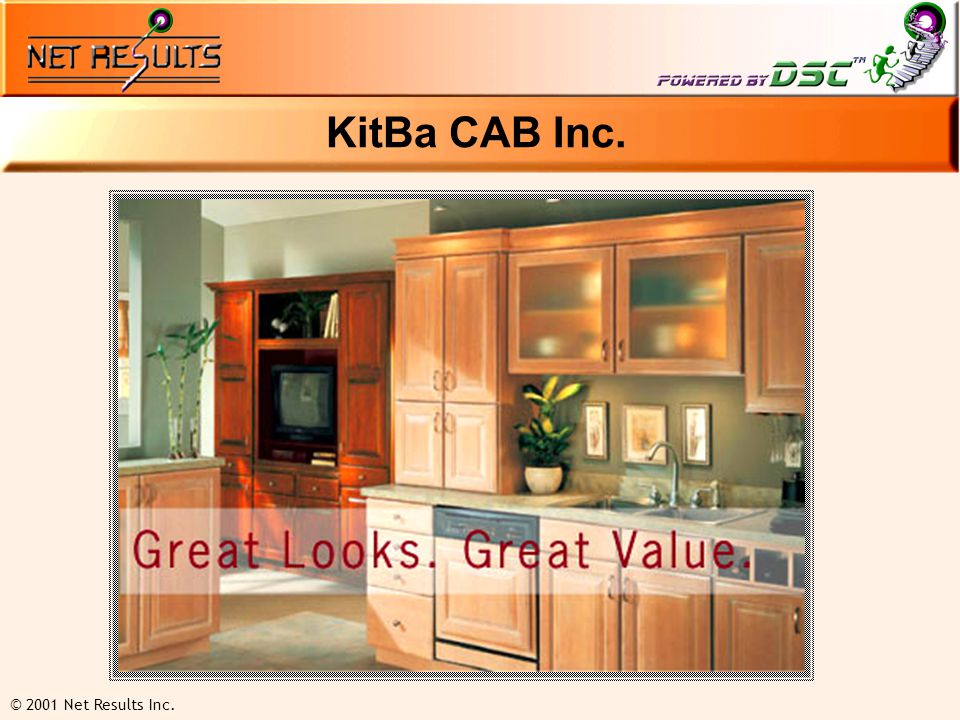 © 2001 Net Results Inc. KitBa CAB Inc.