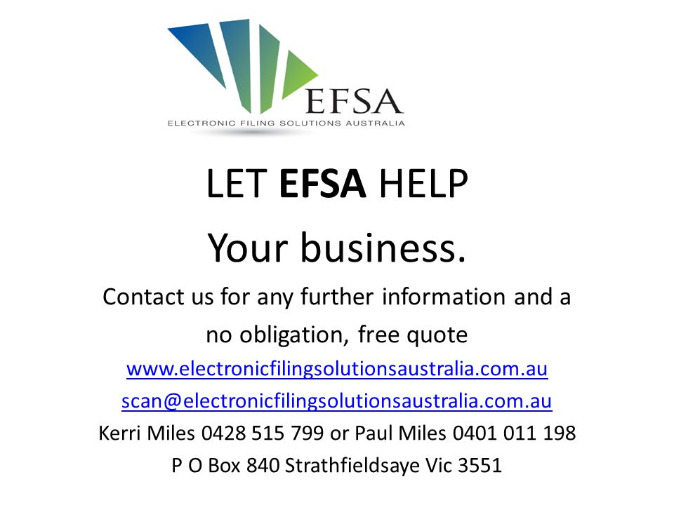 LET EFSA HELP Your business.