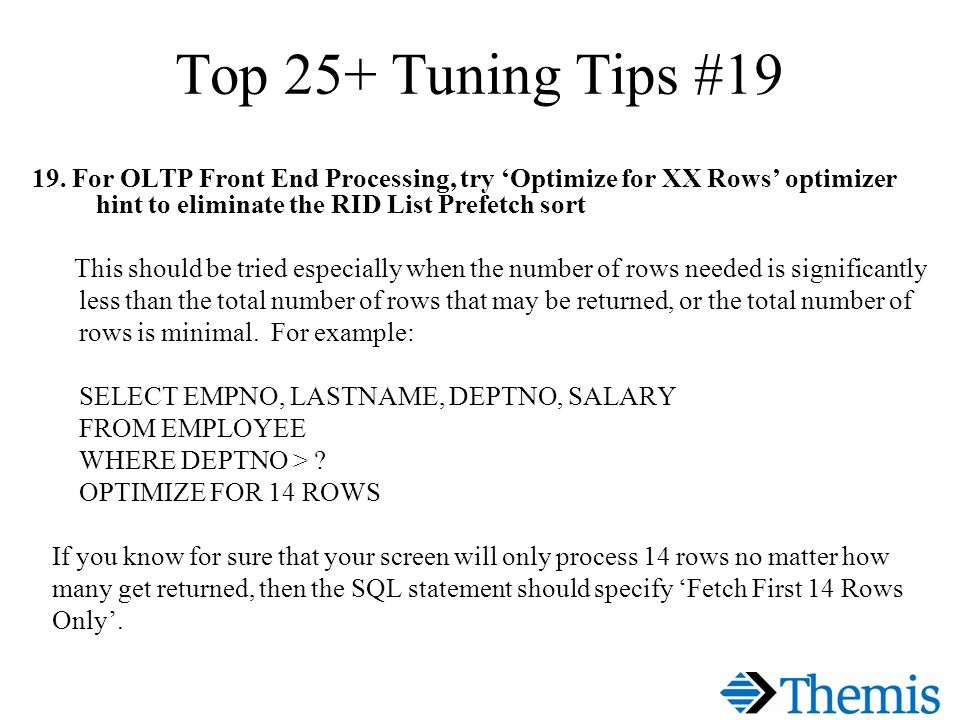 Top 25+ Tuning Tips #19 19.
