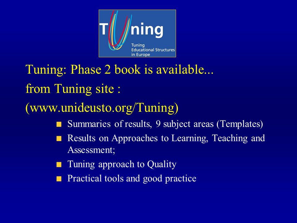 Tuning: Phase 2 book is available...