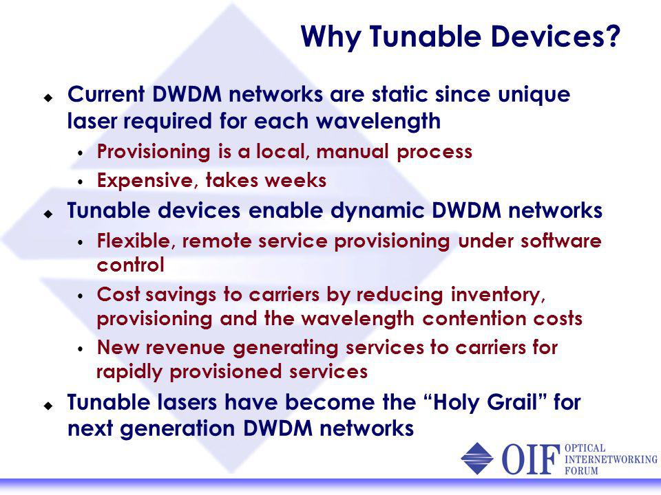 Why Tunable Devices.