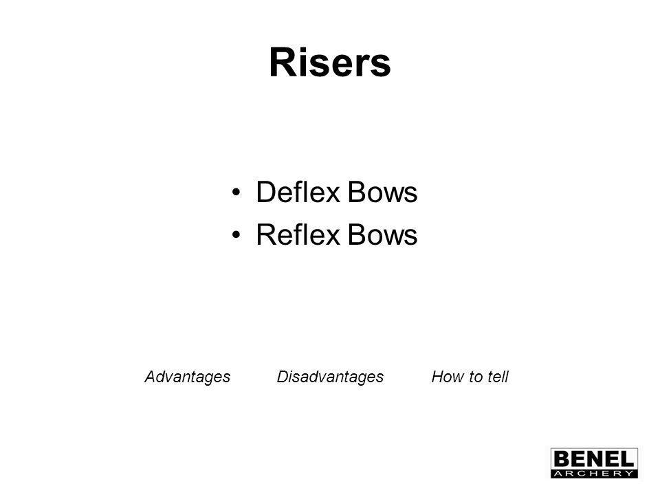 Risers Deflex Bows Reflex Bows AdvantagesDisadvantages How to tell