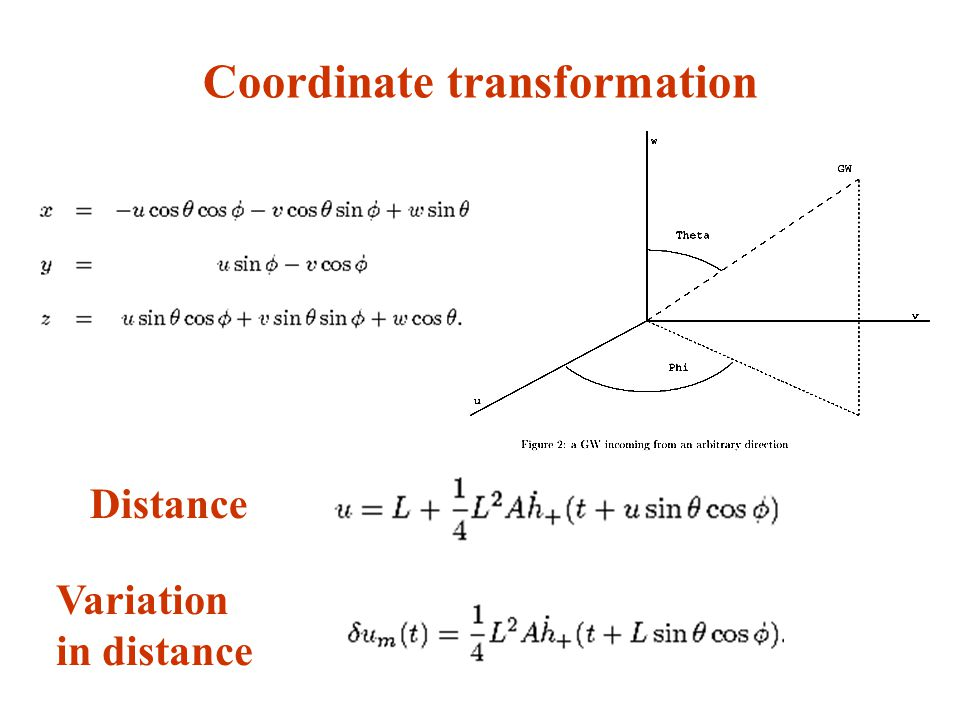 Coordinate transformation Distance Variation in distance