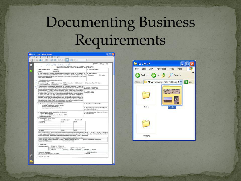 Documenting Business Requirements