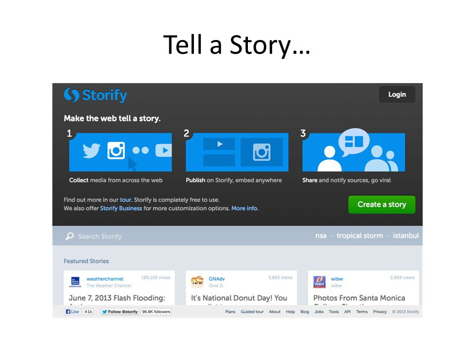 Tell a Story…