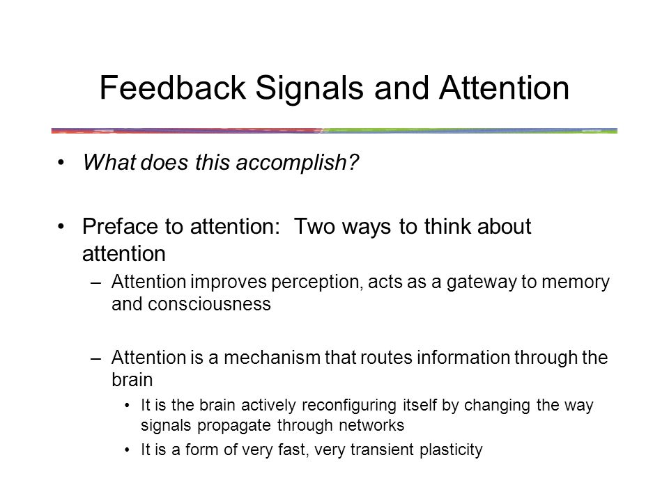 Feedback Signals and Attention What does this accomplish.