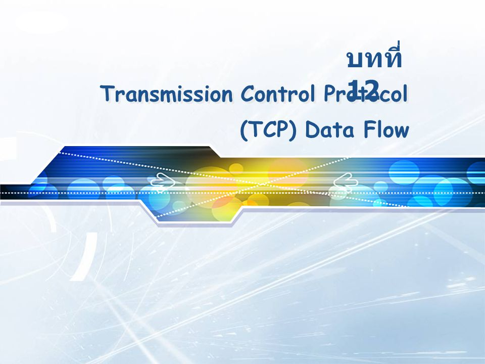 LOGO Transmission Control Protocol 12 (TCP) Data Flow