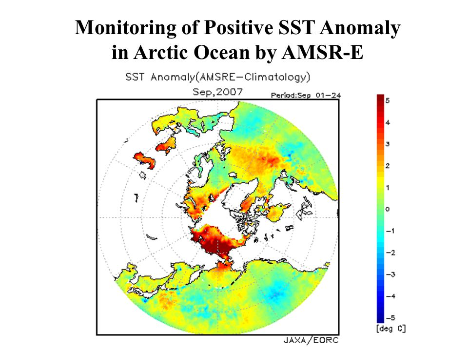 Monitoring of Positive SST Anomaly in Arctic Ocean by AMSR-E