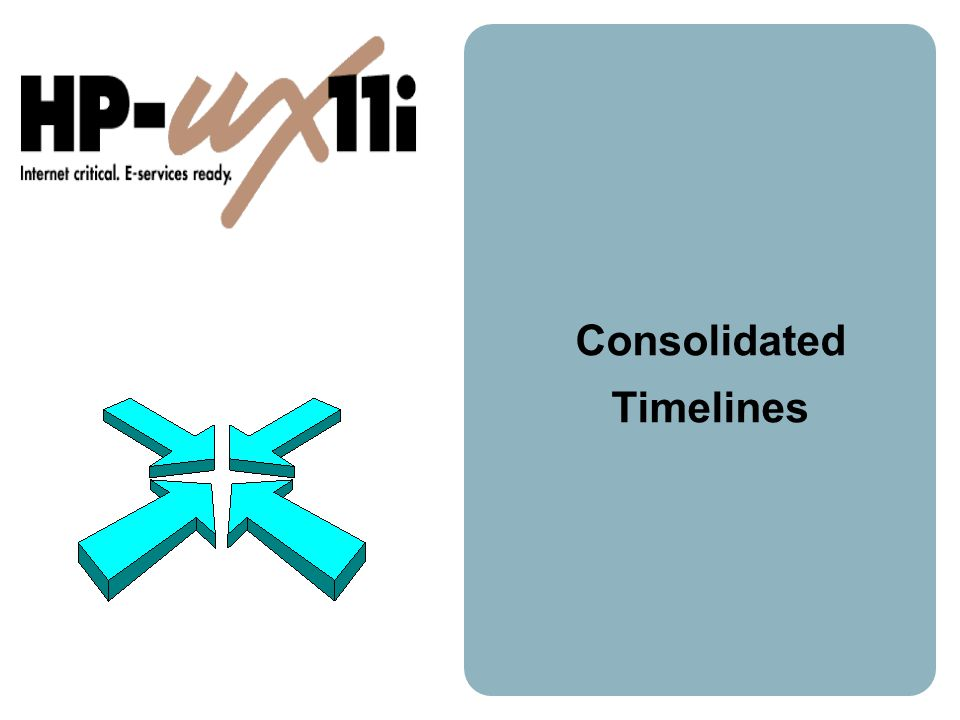 Consolidated Timelines
