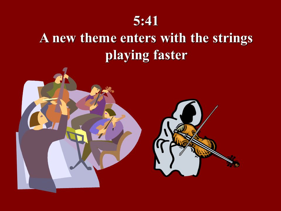 5:41 A new theme enters with the strings playing faster