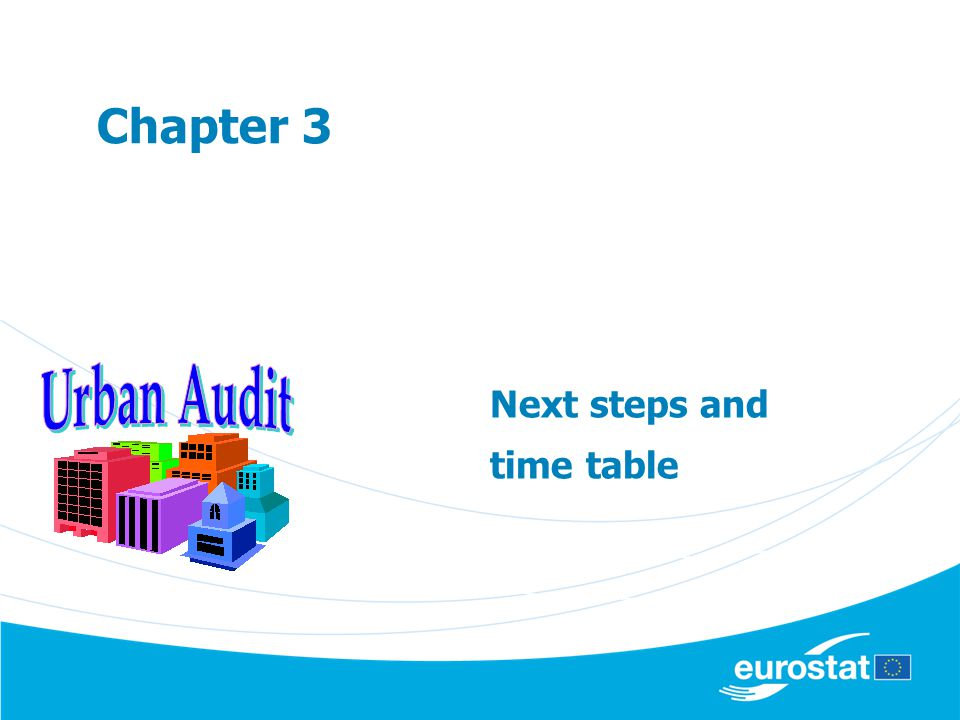Next steps and time table Chapter 3