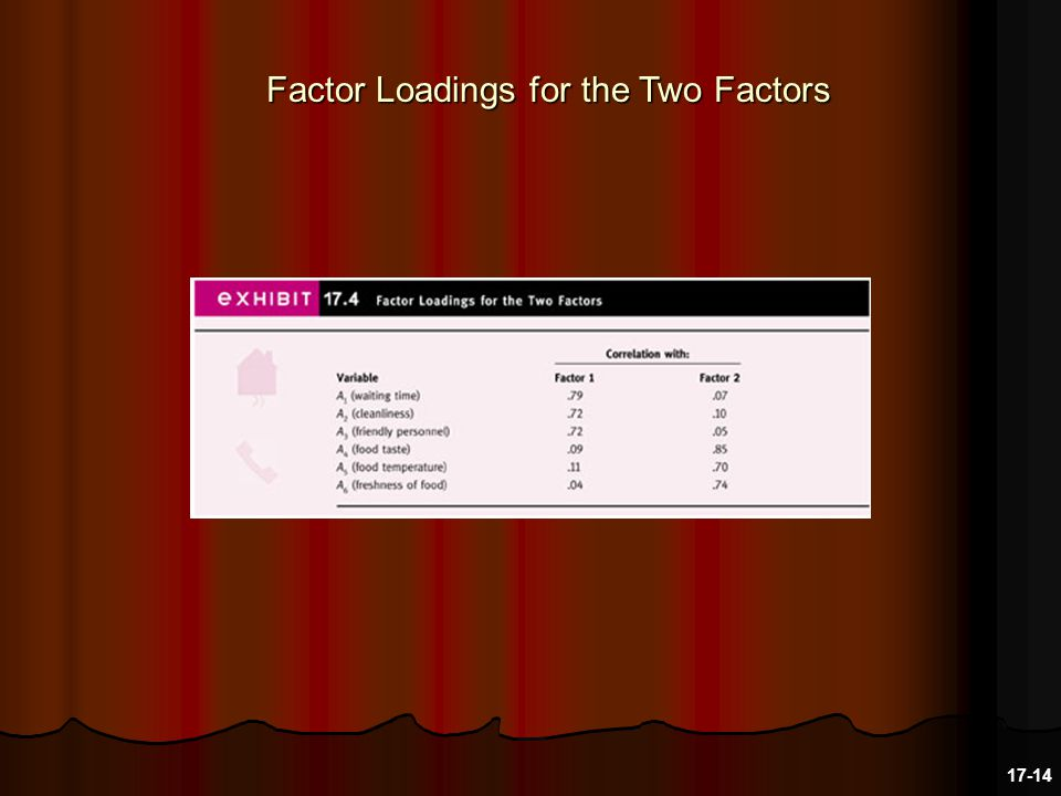 Factor Loadings for the Two Factors 17-14