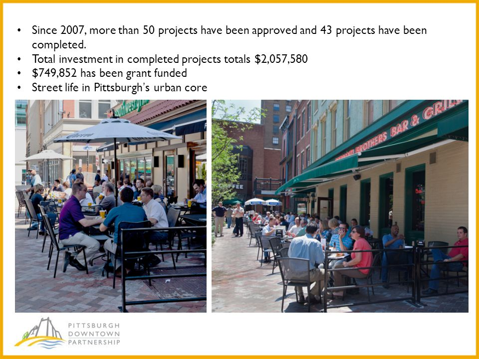 Since 2007, more than 50 projects have been approved and 43 projects have been completed.