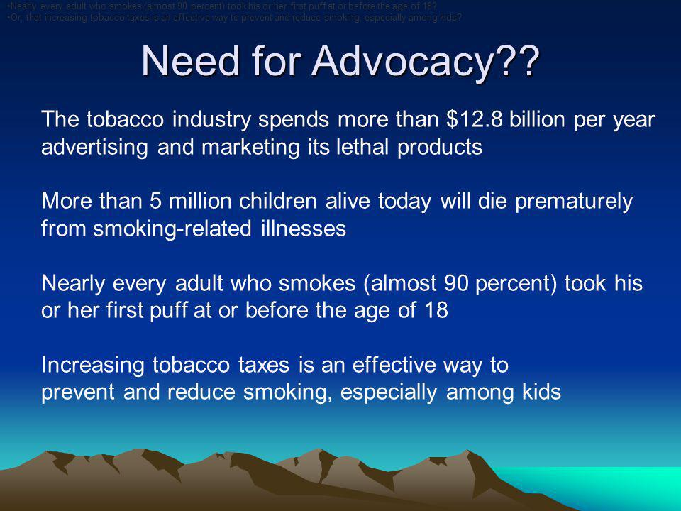 Need for Advocacy .