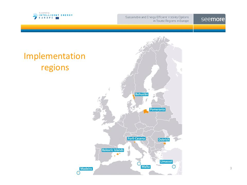 Implementation regions 3