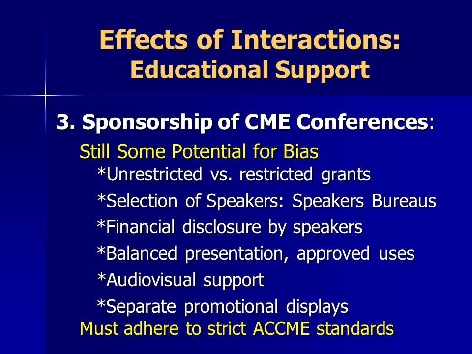 Effects of Interactions: Educational Support 3.