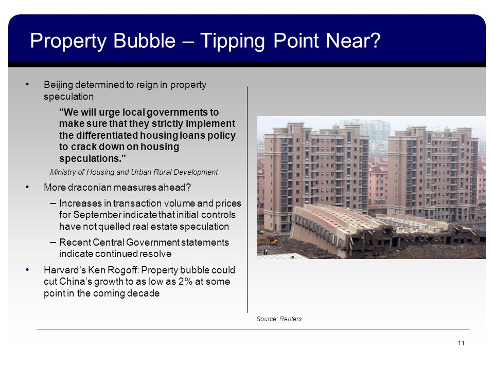 11 Property Bubble – Tipping Point Near.