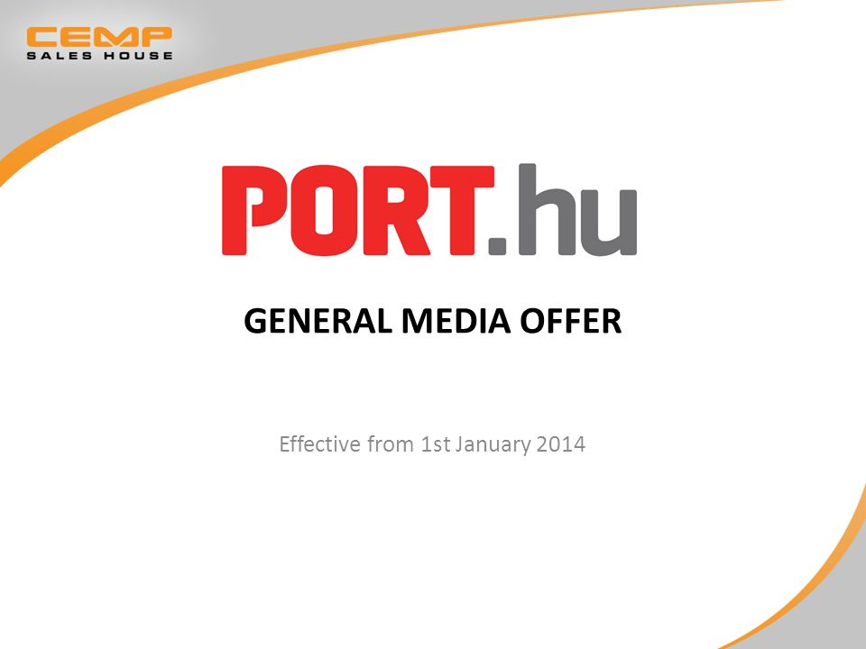 GENERAL MEDIA OFFER Effective from 1st January 2014