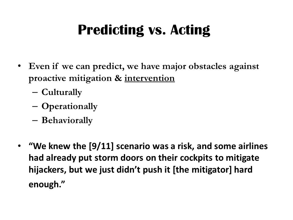 Predicting vs.