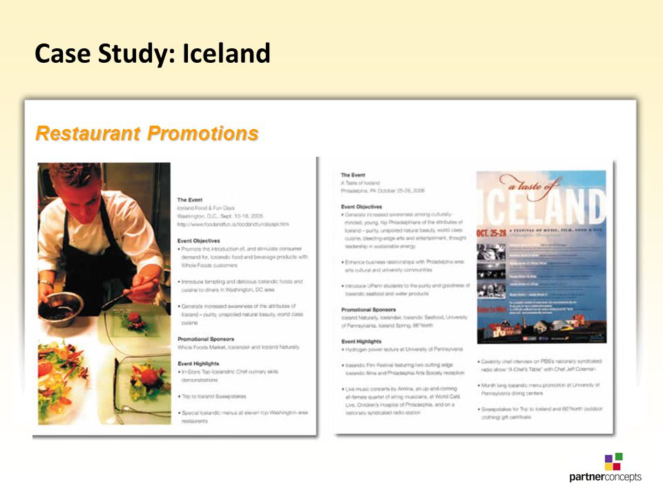 Case Study: Iceland Restaurant Promotions