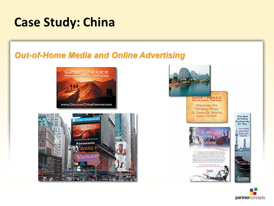 Out-of-Home Media and Online Advertising Case Study: China