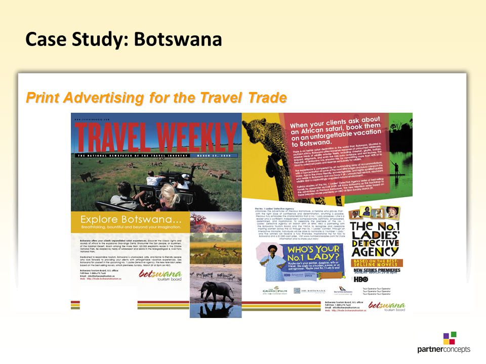 Case Study: Botswana Print Advertising for the Travel Trade