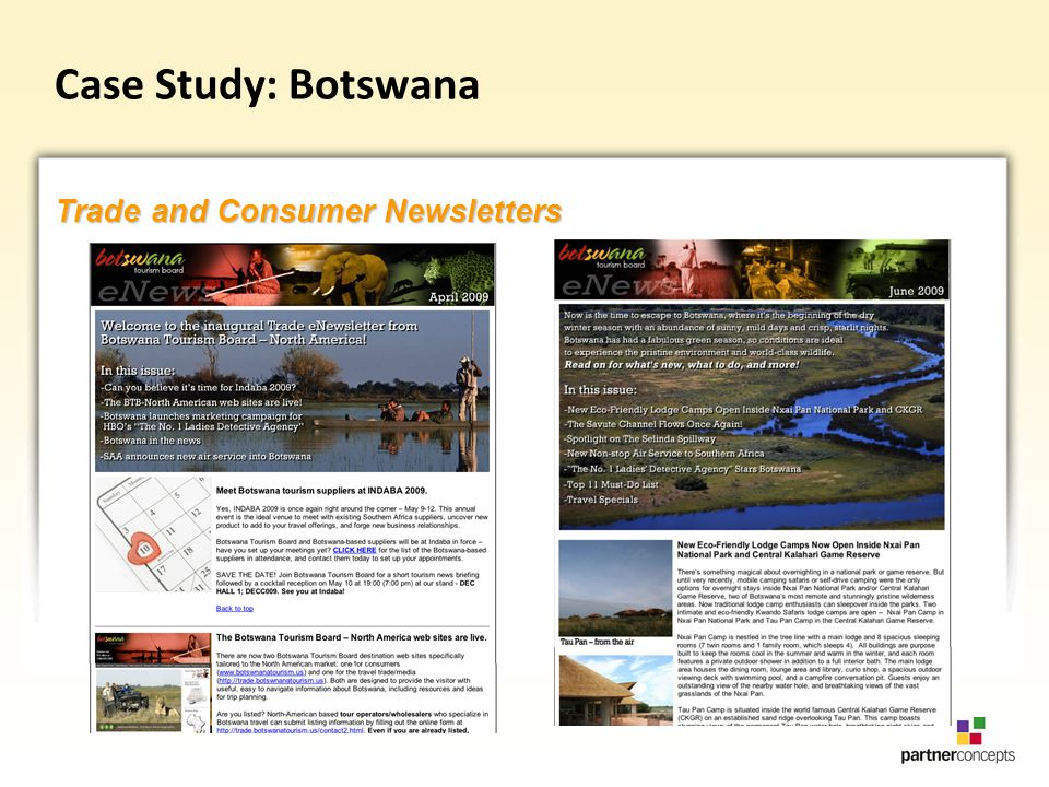 Case Study: Botswana Trade and Consumer Newsletters