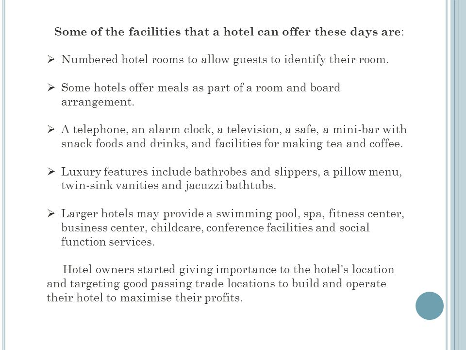 Numbered hotel rooms to allow guests to identify their room.