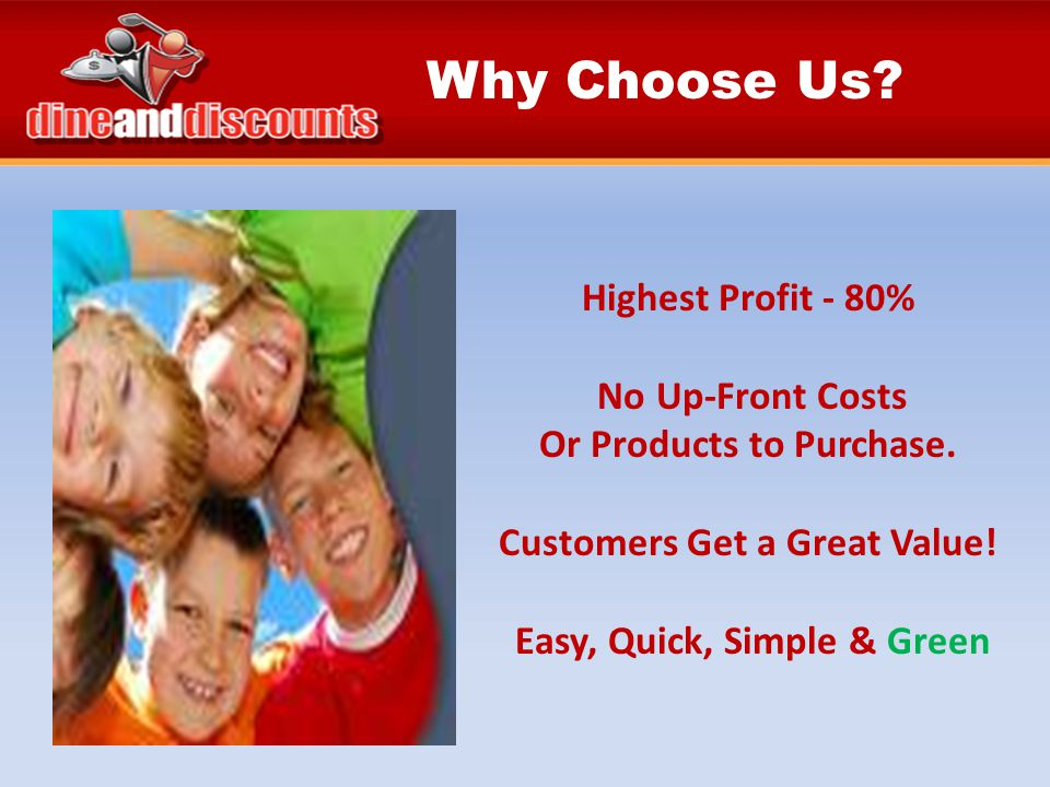 Highest Profit - 80% No Up-Front Costs Or Products to Purchase.