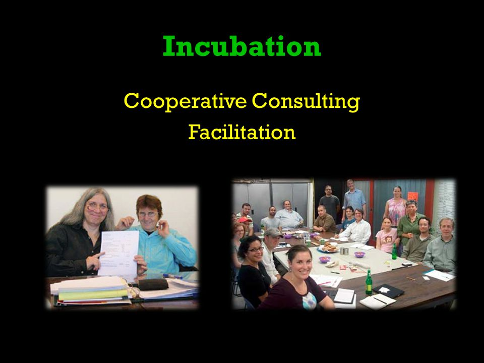 Incubation Cooperative Consulting Facilitation