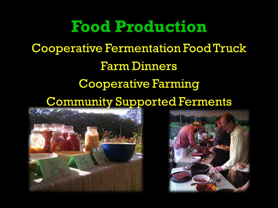 Food Production Cooperative Fermentation Food Truck Farm Dinners Cooperative Farming Community Supported Ferments