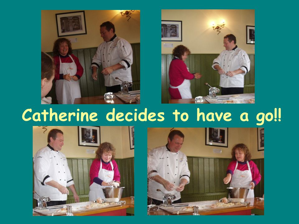 Catherine decides to have a go!!