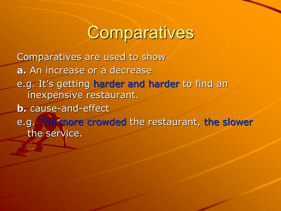 Comparatives and Equatives