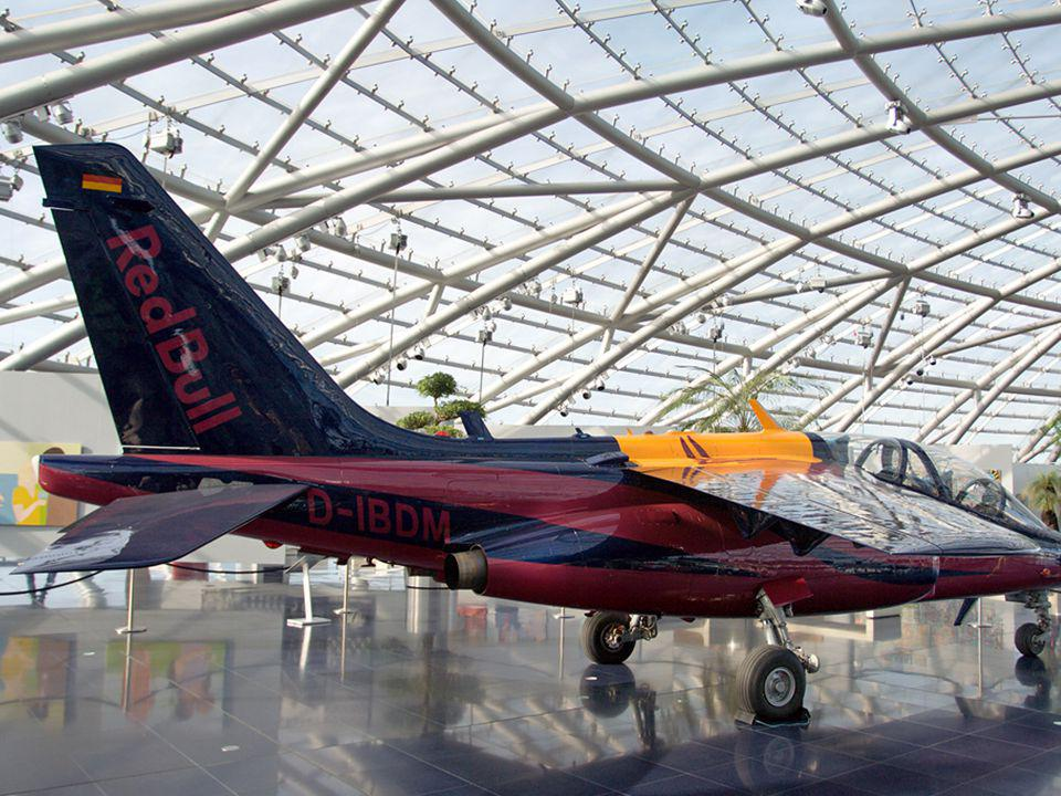One of the four Dornier Alpha Jets flown by Red Bull pilots.