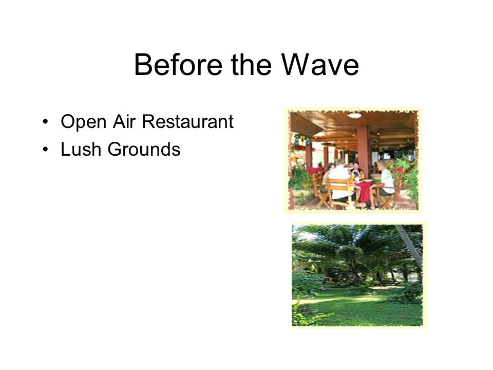 Before the Wave Open Air Restaurant Lush Grounds
