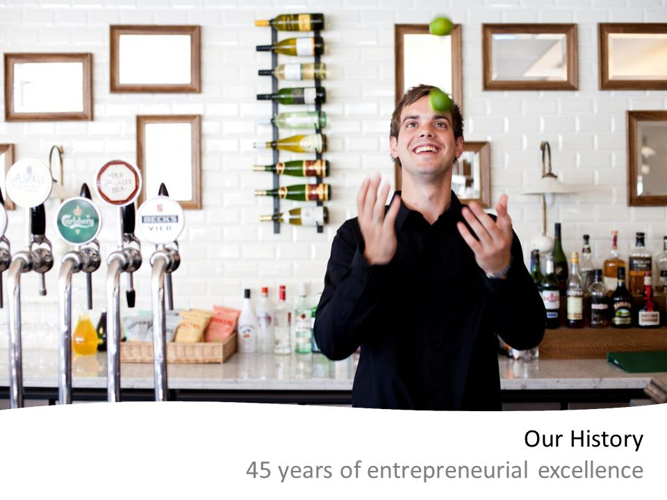 Our History 45 years of entrepreneurial excellence
