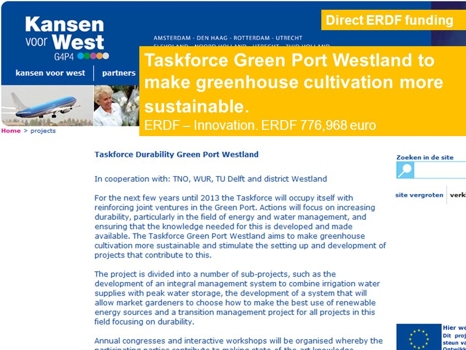 Taskforce Green Port Westland to make greenhouse cultivation more sustainable.