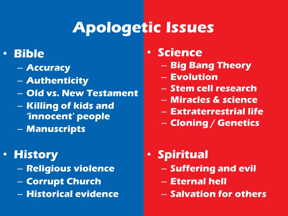 Apologetic Issues Bible – Accuracy – Authenticity – Old vs.