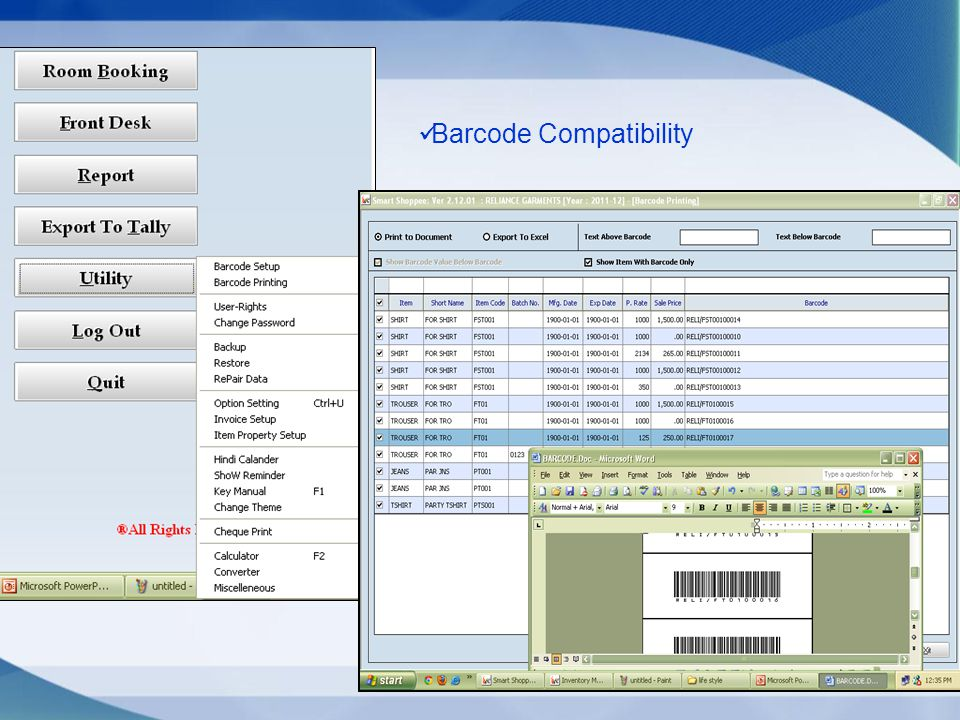 Barcode Compatibility