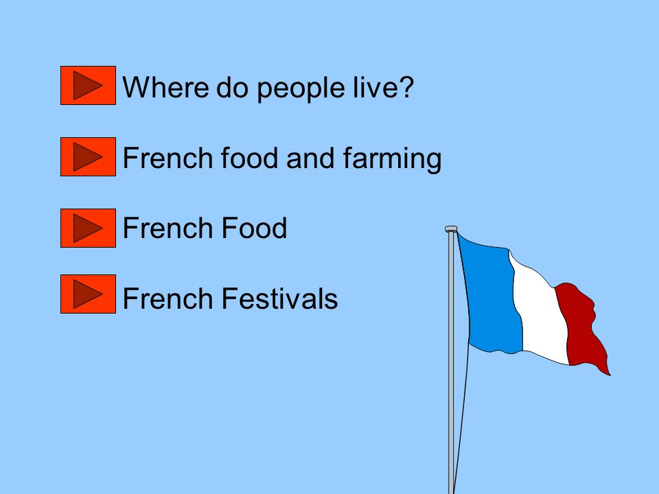 Where do people live French food and farming French Food French Festivals