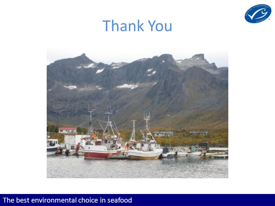 The best environmental choice in seafood Thank You