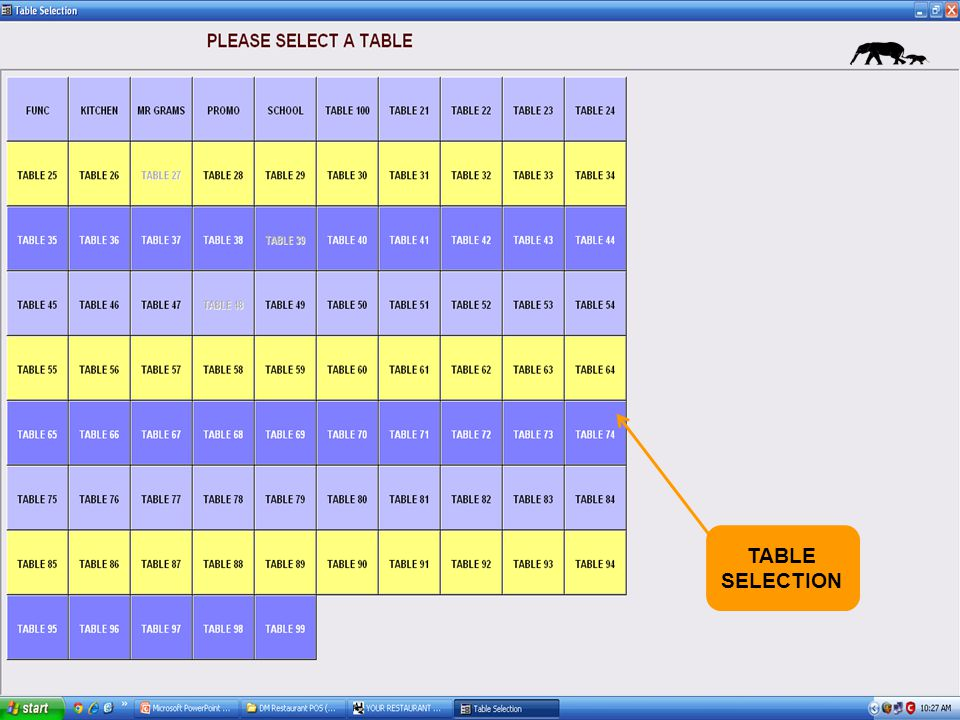 TABLE SELECTION