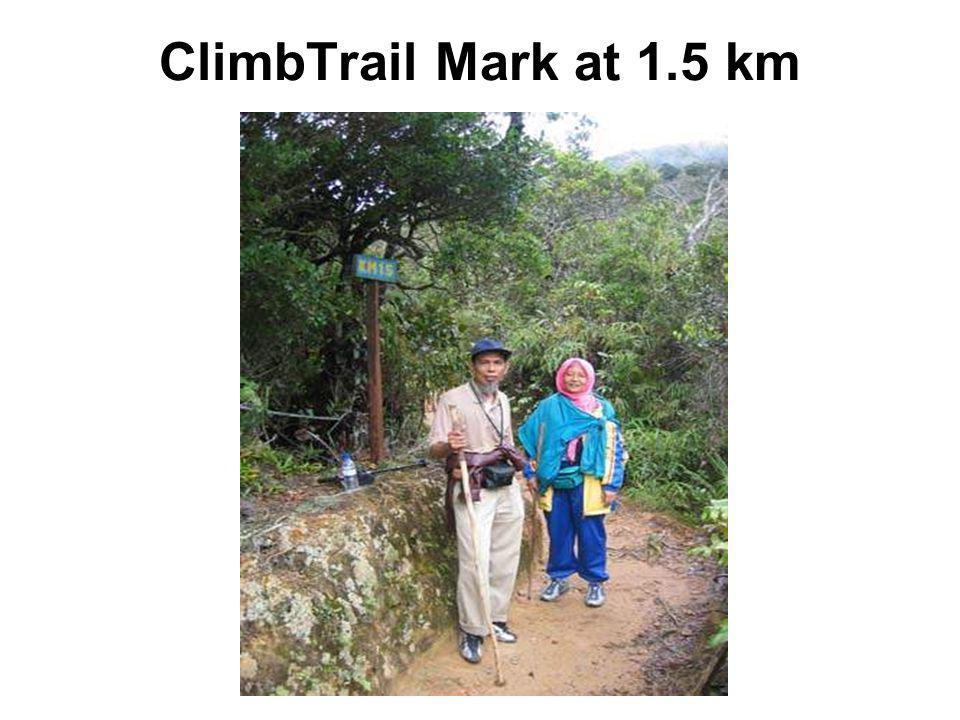 ClimbTrail Mark at 1.5 km