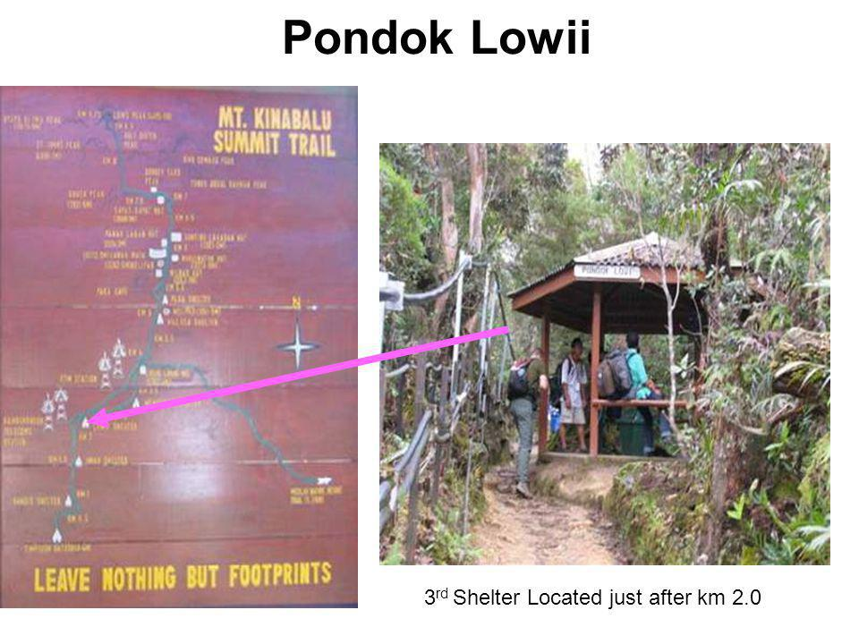 Pondok Lowii 3 rd Shelter Located just after km 2.0