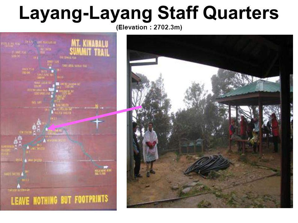 Layang-Layang Staff Quarters (Elevation : 2702.3m)