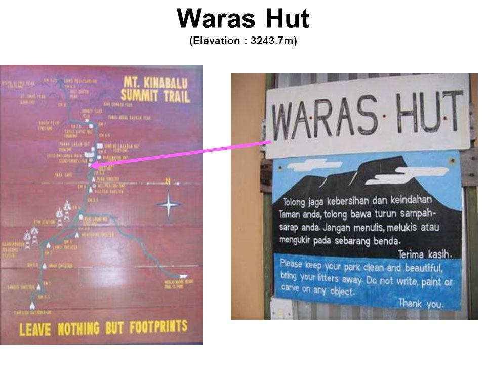 Waras Hut (Elevation : 3243.7m)