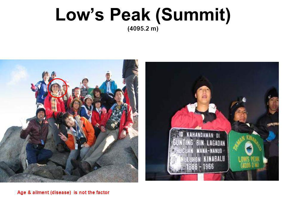 Lows Peak (Summit) (4095.2 m) Age & ailment (disease) is not the factor