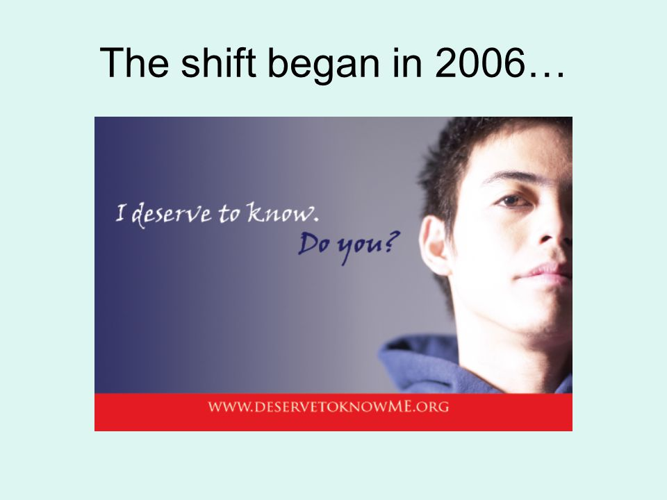 The shift began in 2006…