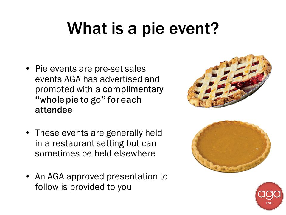 What is a pie event.