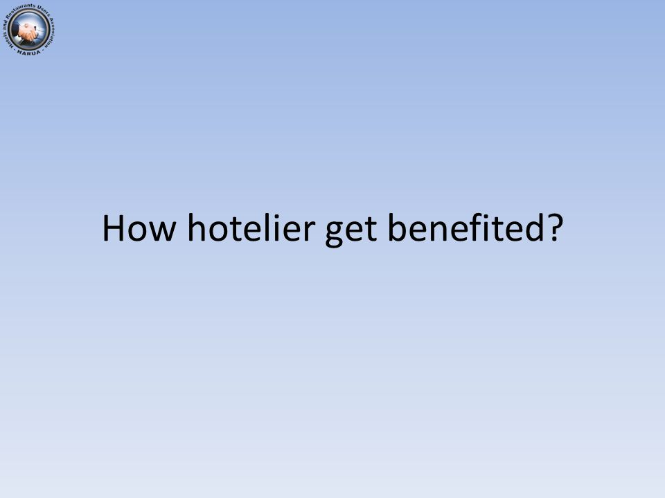 How hotelier get benefited